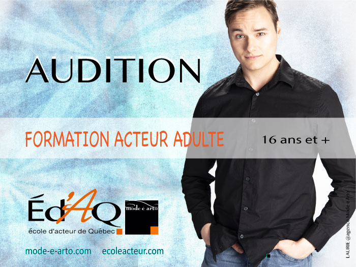 Affiche des auditions acteur adulte