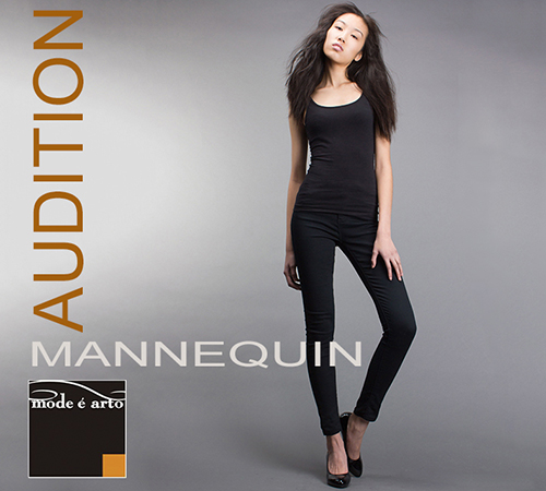 habillement du mannequin en audition